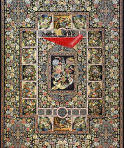 فرش ماشینی 1000 شانه طرح باغ ارم - کد 60002