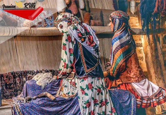 نحوهی بافت فرش سنتی ایرانی و روشهای آن